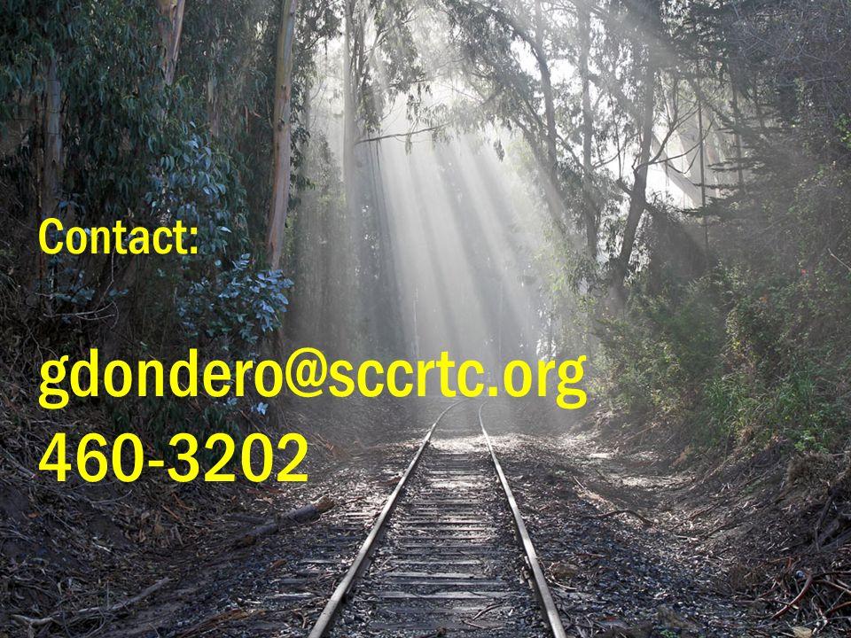 Thank you! Contact: gdondero@sccrtc.org 460-3202