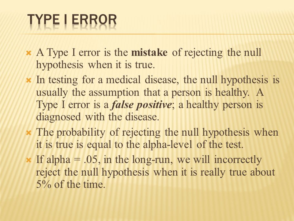  A type II error is made when we fail to reject the null hypothesis when it is false and the alternative is true.