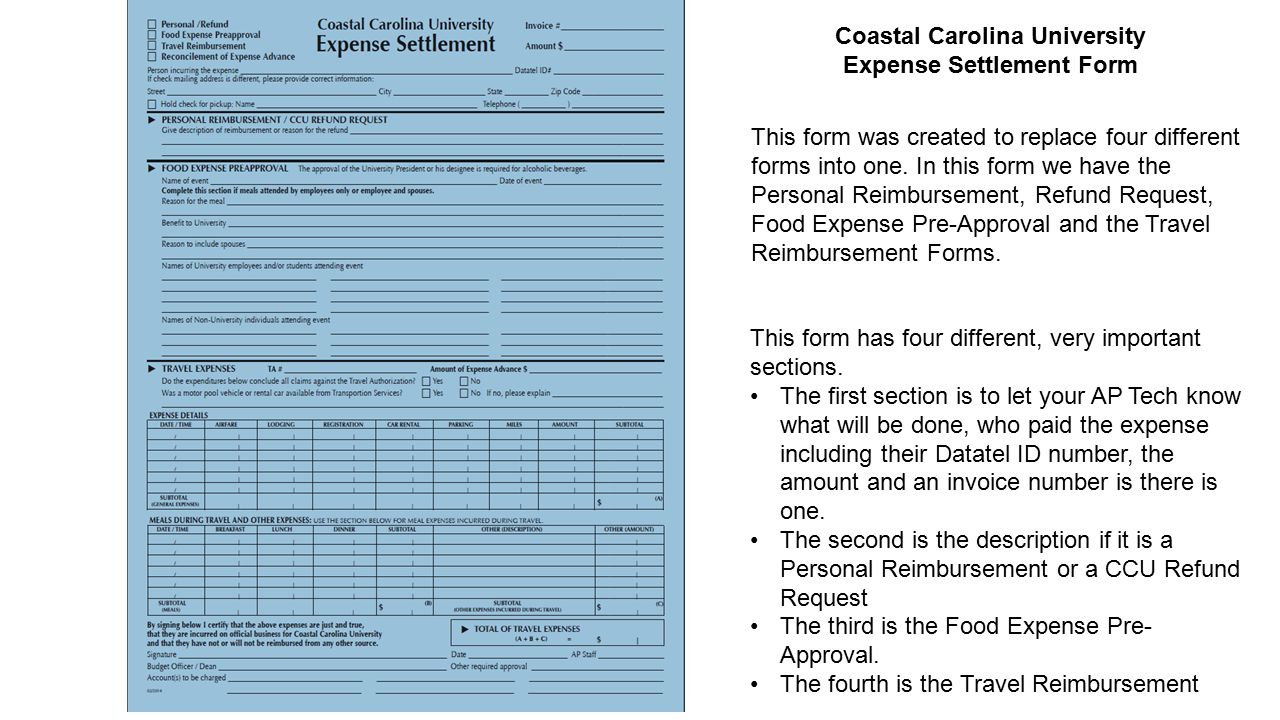 Coastal Carolina University Expense Advance Request Minimum request amount $200 This form replaces the Cash Advance Request and the Spend Down Card Request.