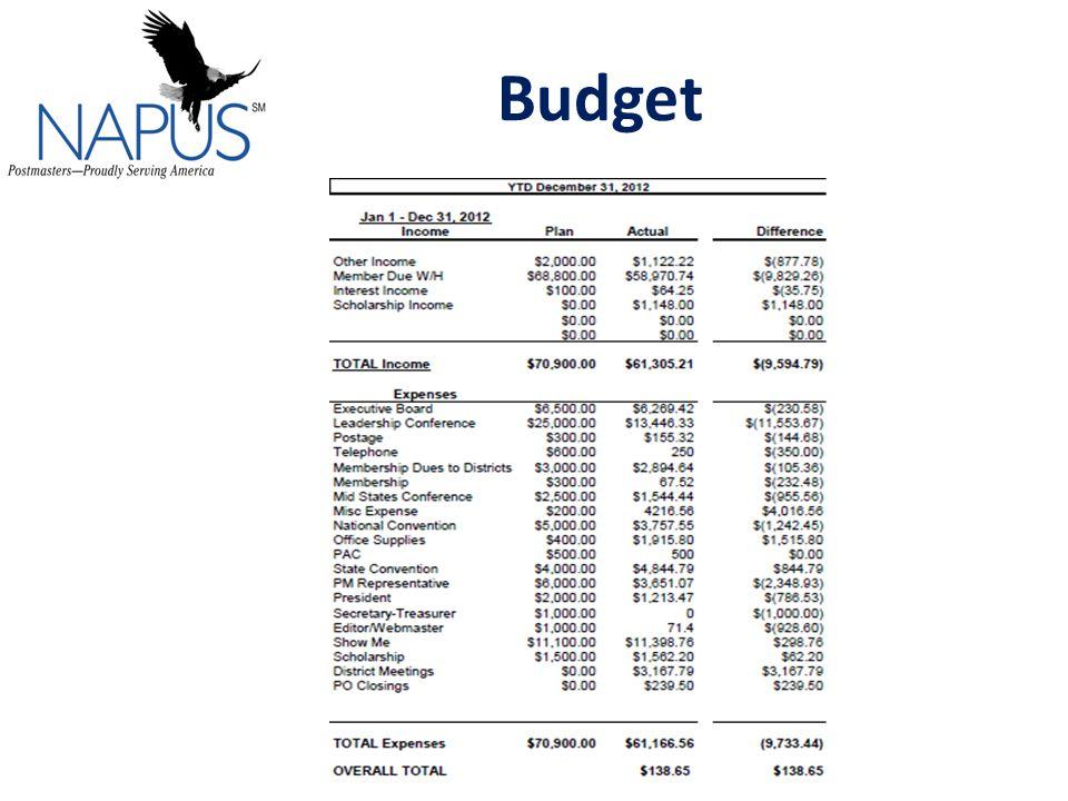 NAPUS Financial Report