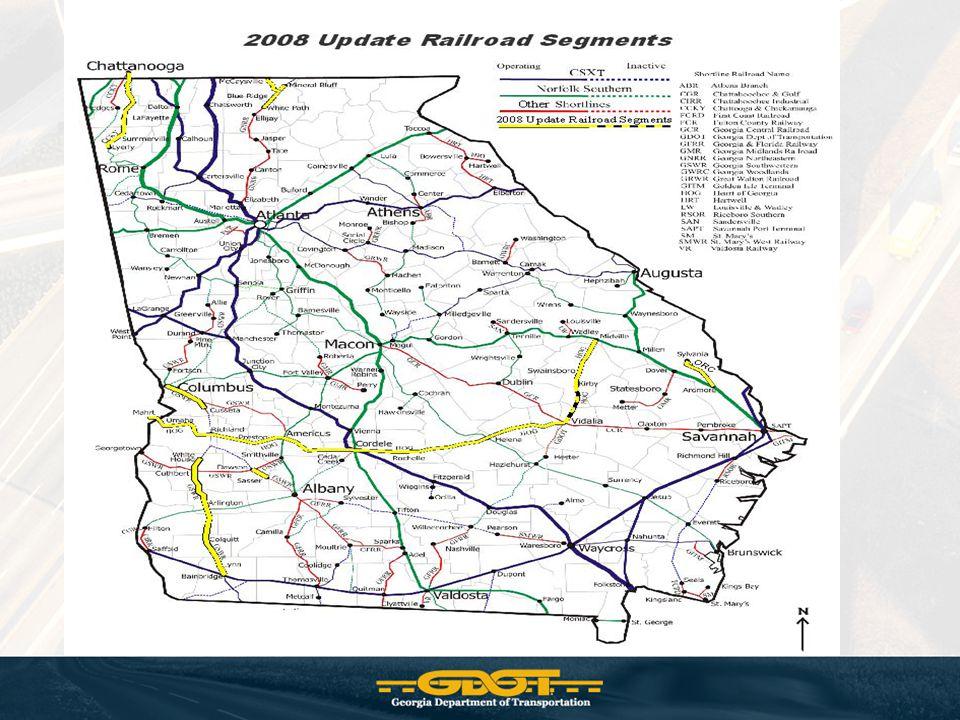 Rail Tonnage 2005 2030% Change Local 64,409 190,294 195% Outbound 2,961,223 7,261,757 145% Inbound 31,498,838 50,759,616 61% Through Rail 75,271,239 92,502,628 23% TOTAL 109,795,708 150,714,295 37%