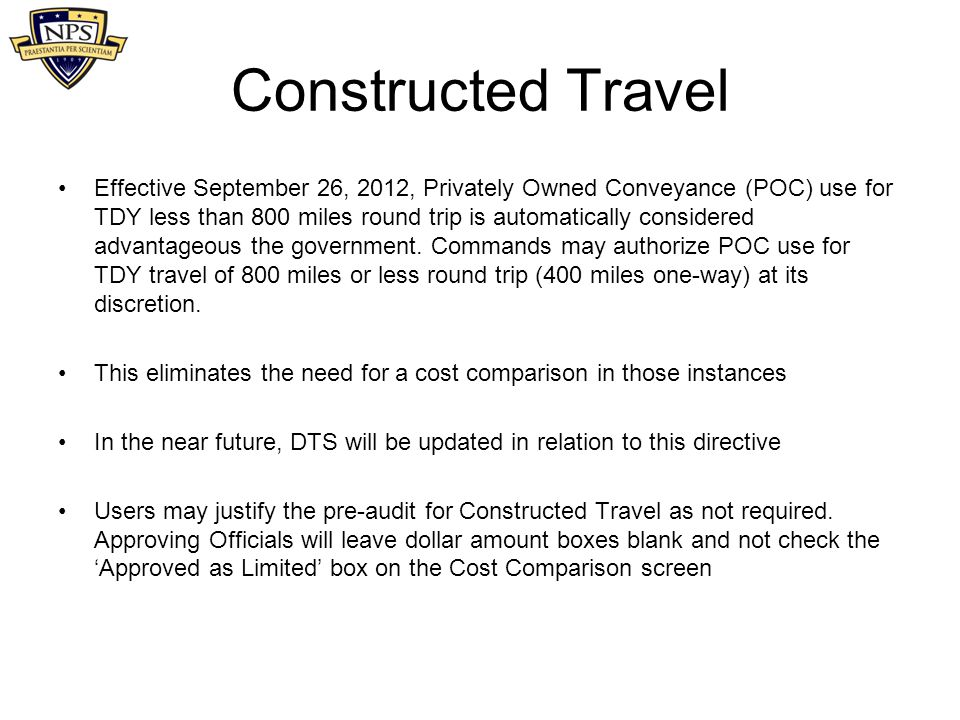 Printables Constructed Travel Worksheet dts user training defense travel system july ppt download constructed effective september 26 2012 privately owned conveyance poc use for 52 worksheet