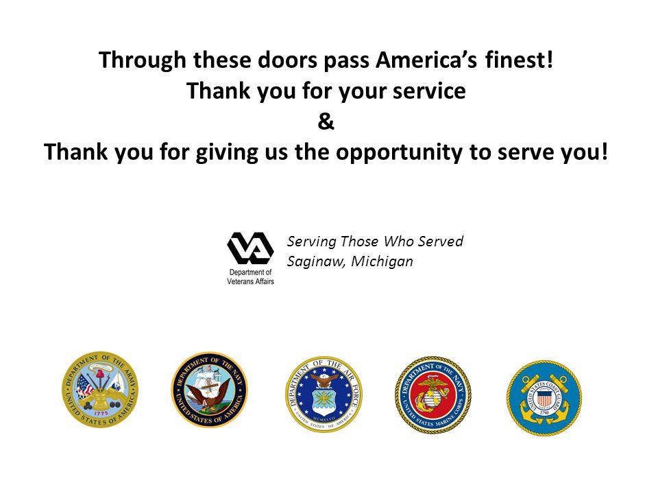 Through these doors pass America's finest.