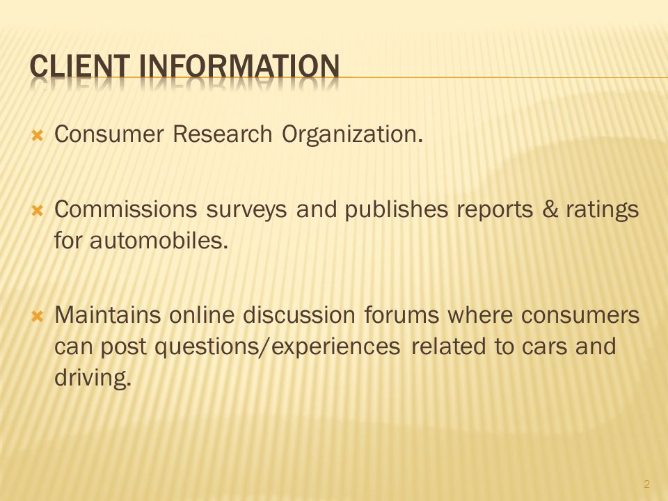  Consumer Research Organization.