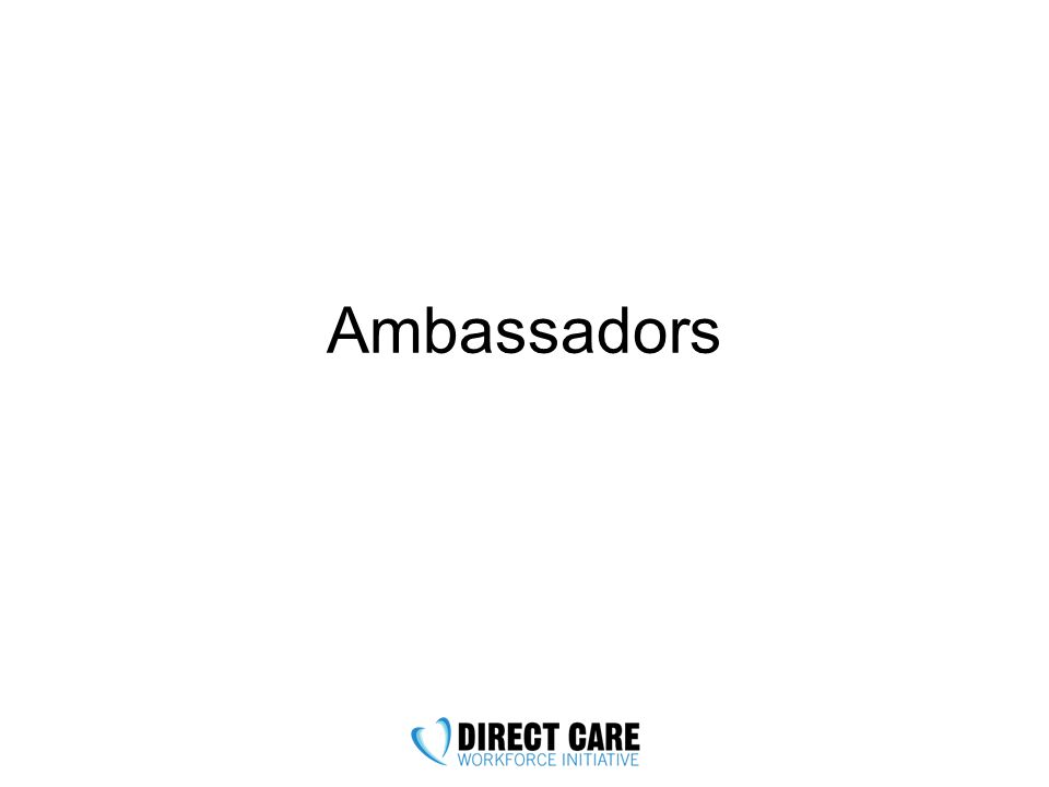 Ambassador Expectations Goal: at least one activity per month –More is great.
