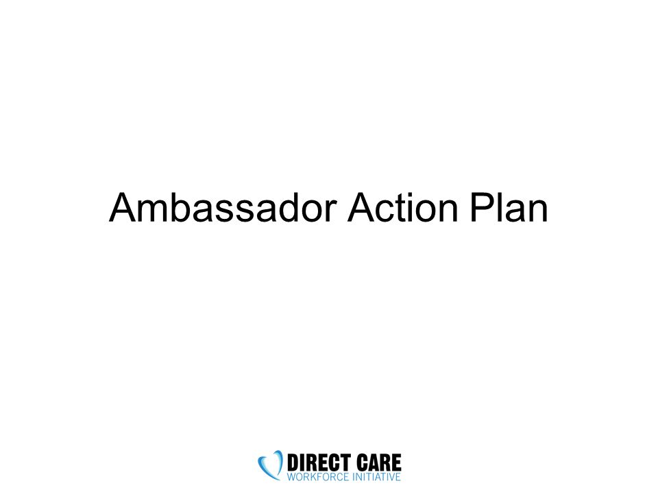 Ambassador Action Plan