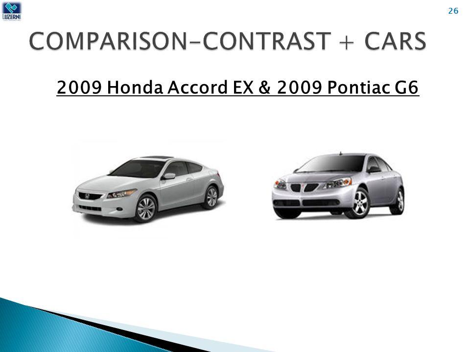 2009 Honda Accord EX & 2009 Pontiac G6 26