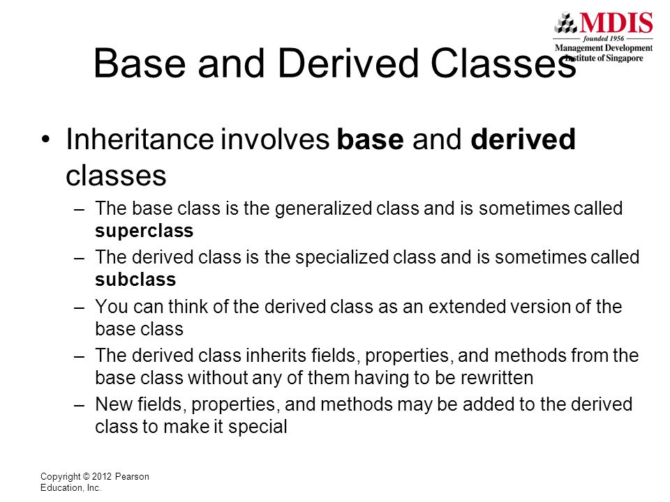Inheritance Notation Assuming there exists an Automobile class: class Automobile { Members….