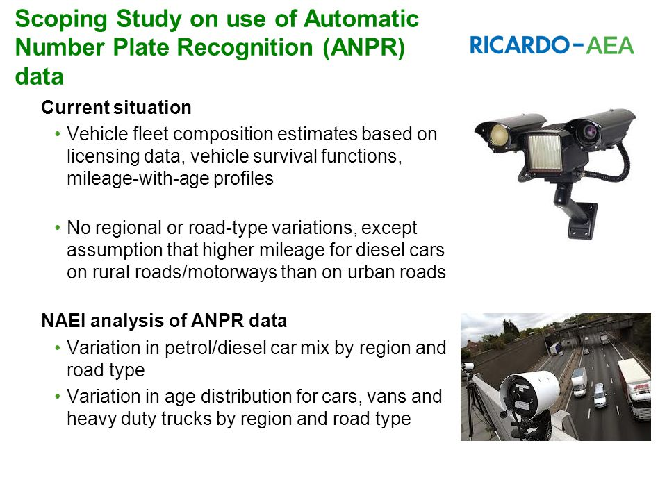 Scoping Study on use of Automatic Number Plate Recognition (ANPR) data