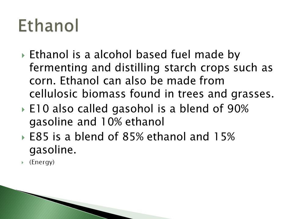 Ethanol amounts being produced is growing at a rapid rate. (Us Ethanol Production, 2011)