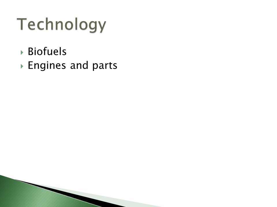  Biofuels  Engines and parts