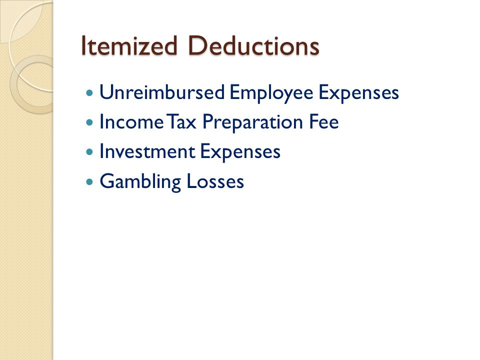 Personal Income Tax Mary B Pearson, Cpa Assistant Professor Of
