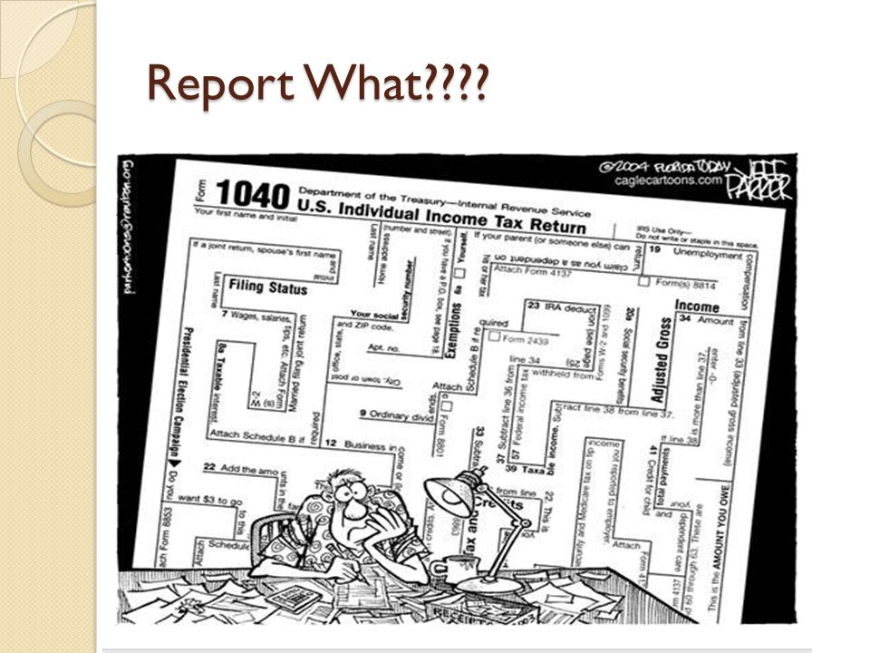Report What????