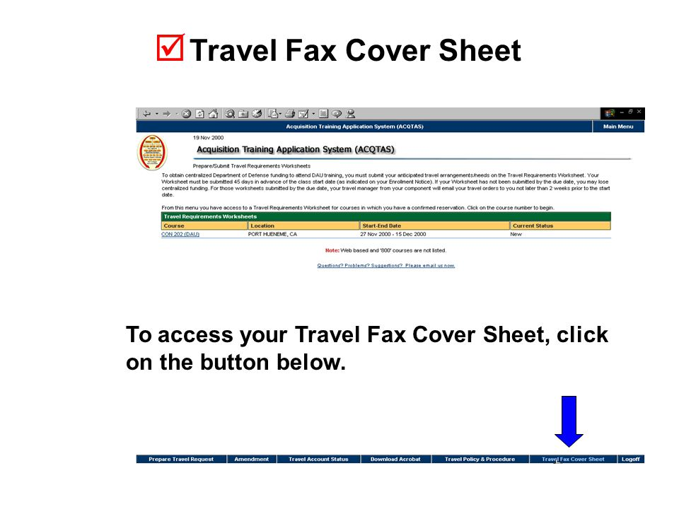  Travel Fax Cover Sheet To access your Travel Fax Cover Sheet, click on the button below.