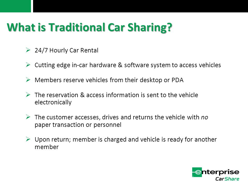 What is Traditional Car Sharing.