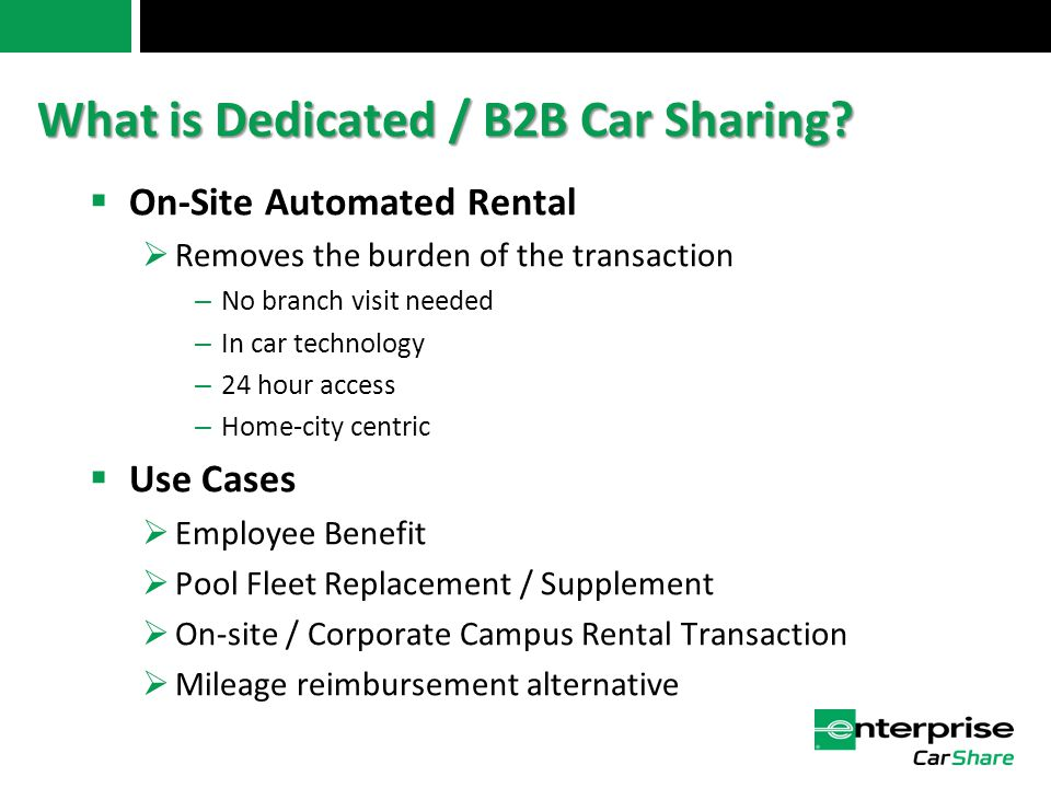 What is Dedicated / B2B Car Sharing.