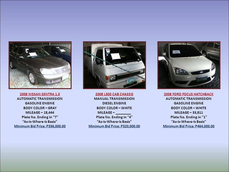 2008 NISSAN SENTRA 1.3 AUTOMATIC TRANSMISSION GASOLINE ENGINE BODY COLOR – GRAY MILEAGE – 18,444 Plate No.