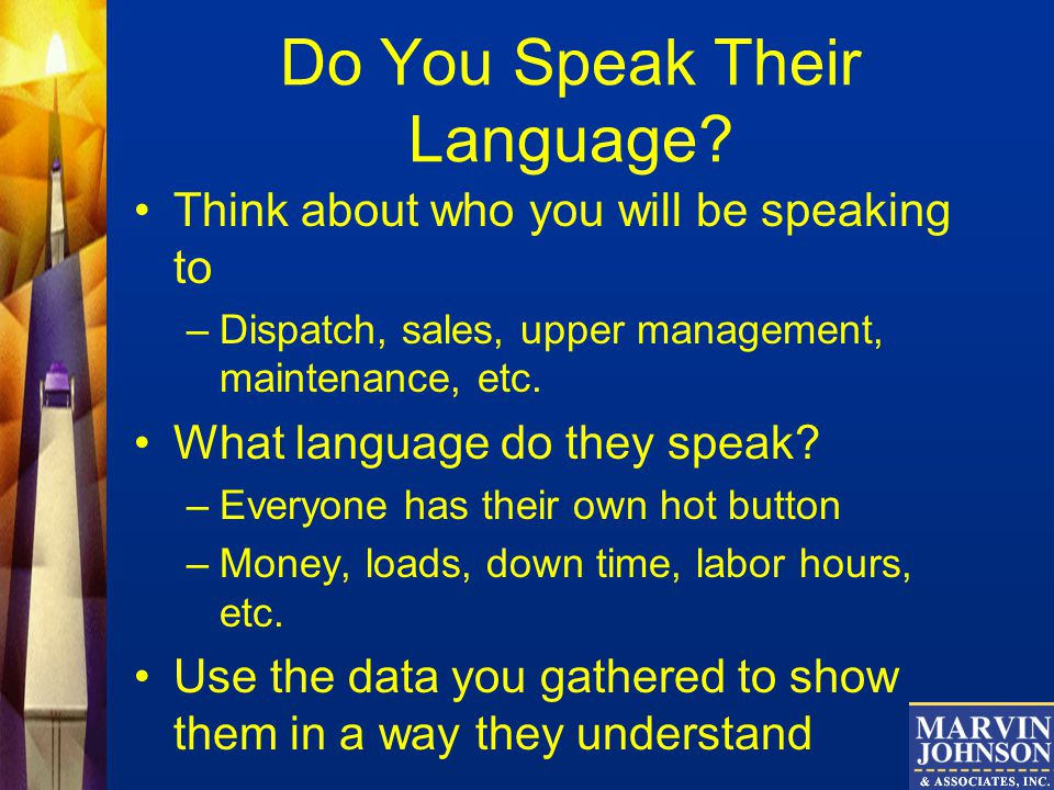 Do You Speak Their Language.