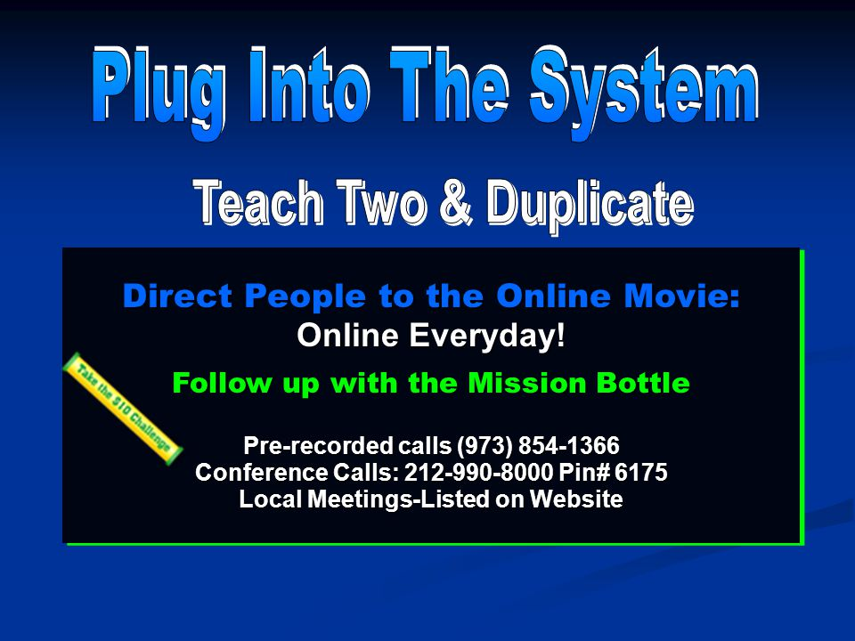 Direct People to the Online Movie: Online Everyday.