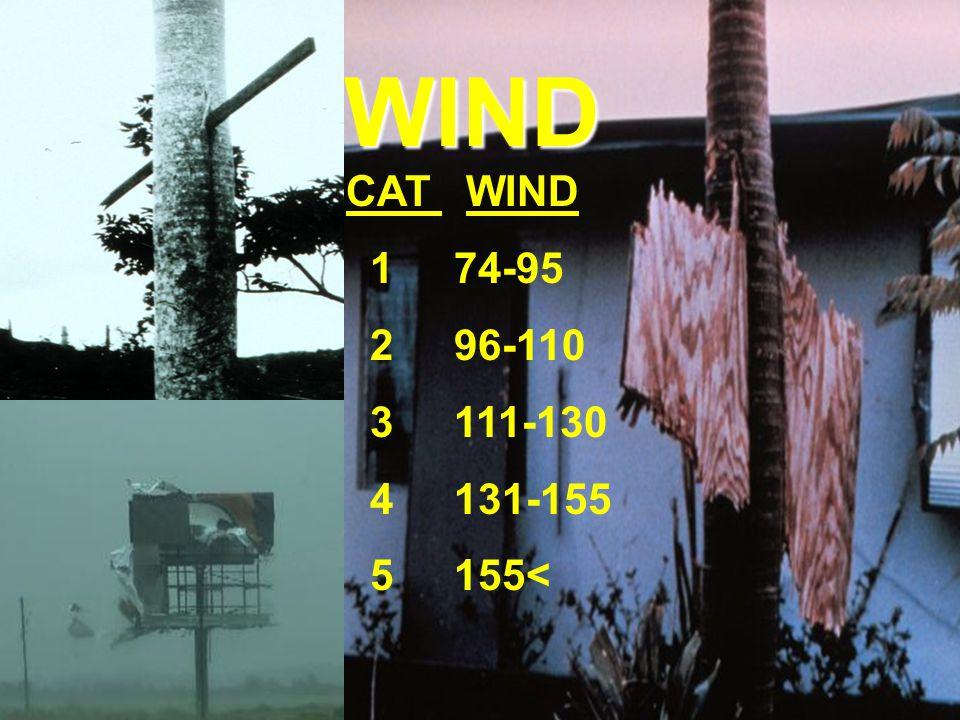 WIND CAT WIND 1 74-95 2 96-110 3 111-130 4 131-155 5 155<