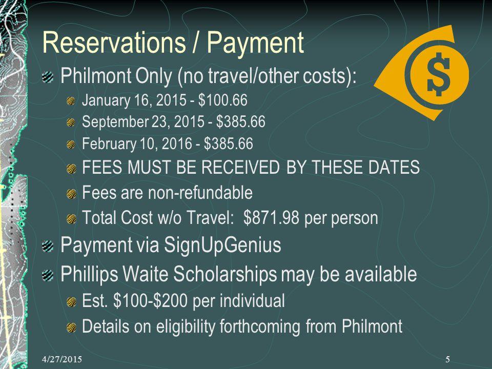 4/27/201526 Philmont Trek Example from 1986