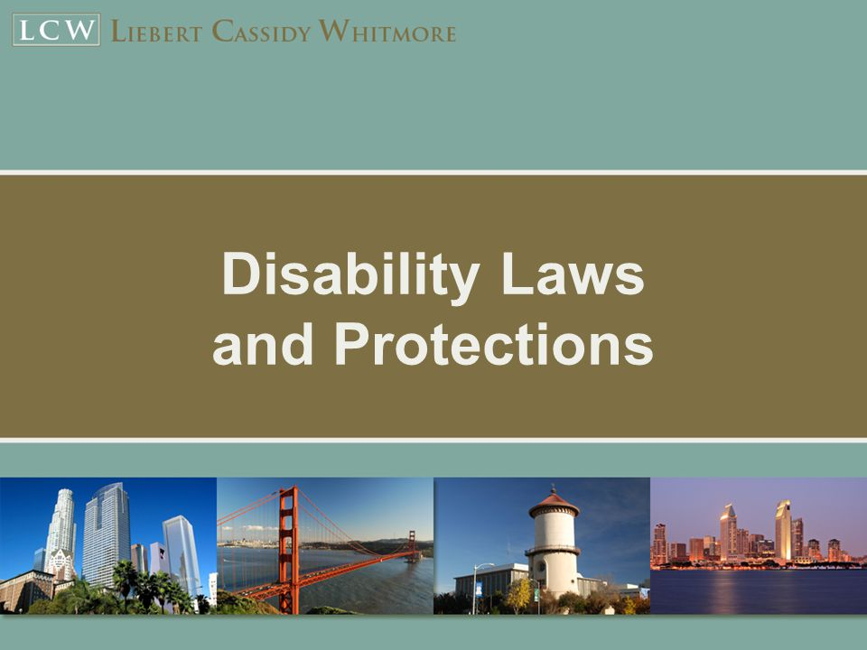 Disability Laws and Protections