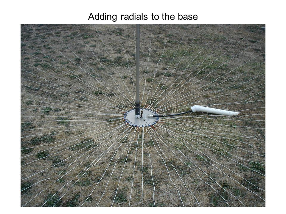 Adding radials to the base