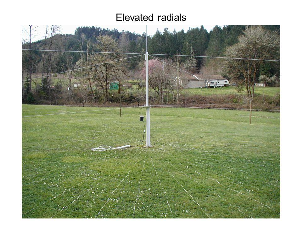 Elevated radials
