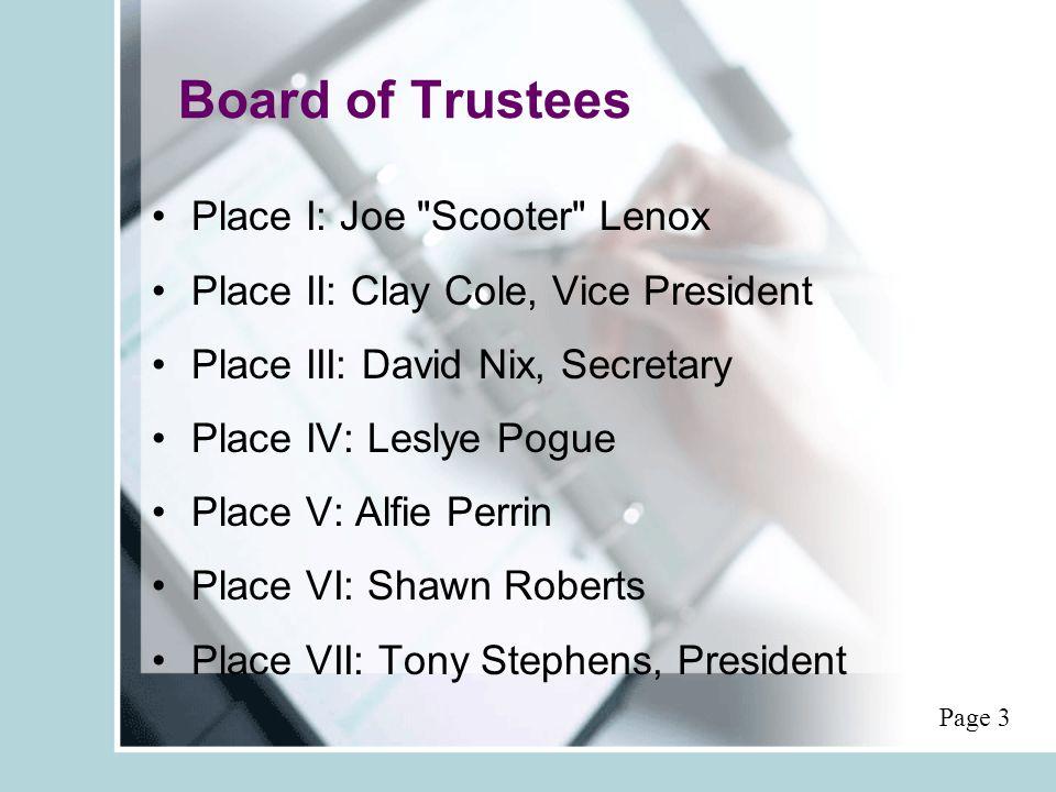 Board of Trustees Place I: Joe