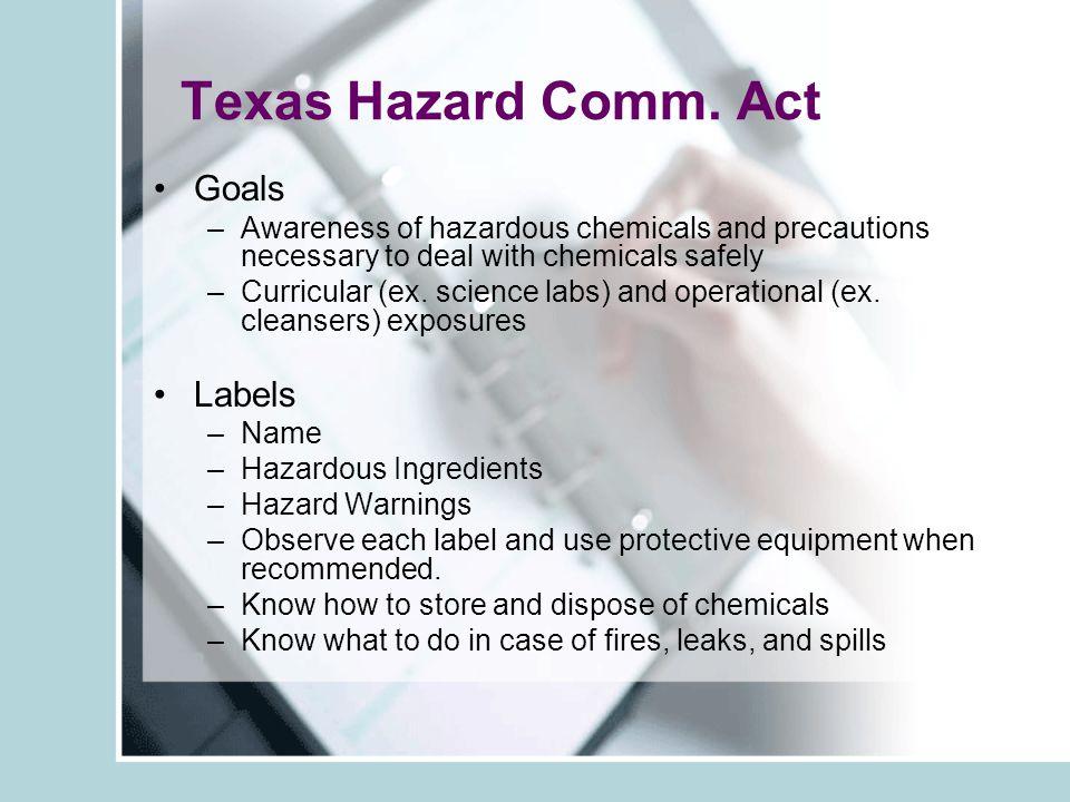 Texas Hazard Comm.
