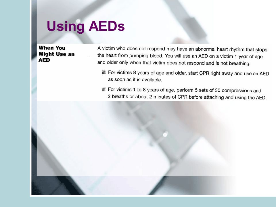 Using AEDs