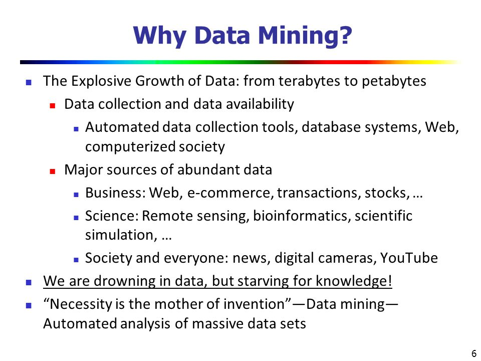 7 Chapter 1.Introduction Why Data Mining. What Is Data Mining.