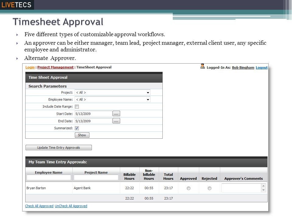  Five different types of customizable approval workflows.