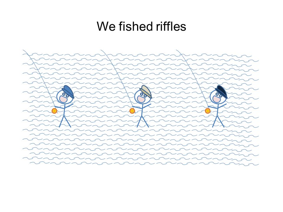 We fished riffles