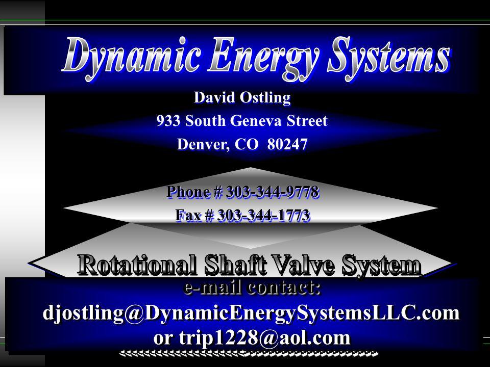 David Ostling 933 South Geneva Street Denver, CO 80247 Phone # 303-344-9778 Fax # 303-344-1773 David Ostling 933 South Geneva Street Denver, CO 80247