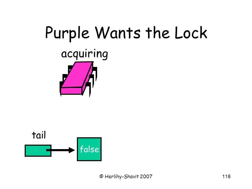 © Herlihy-Shavit 2007116 Purple Wants the Lock false tail acquiring