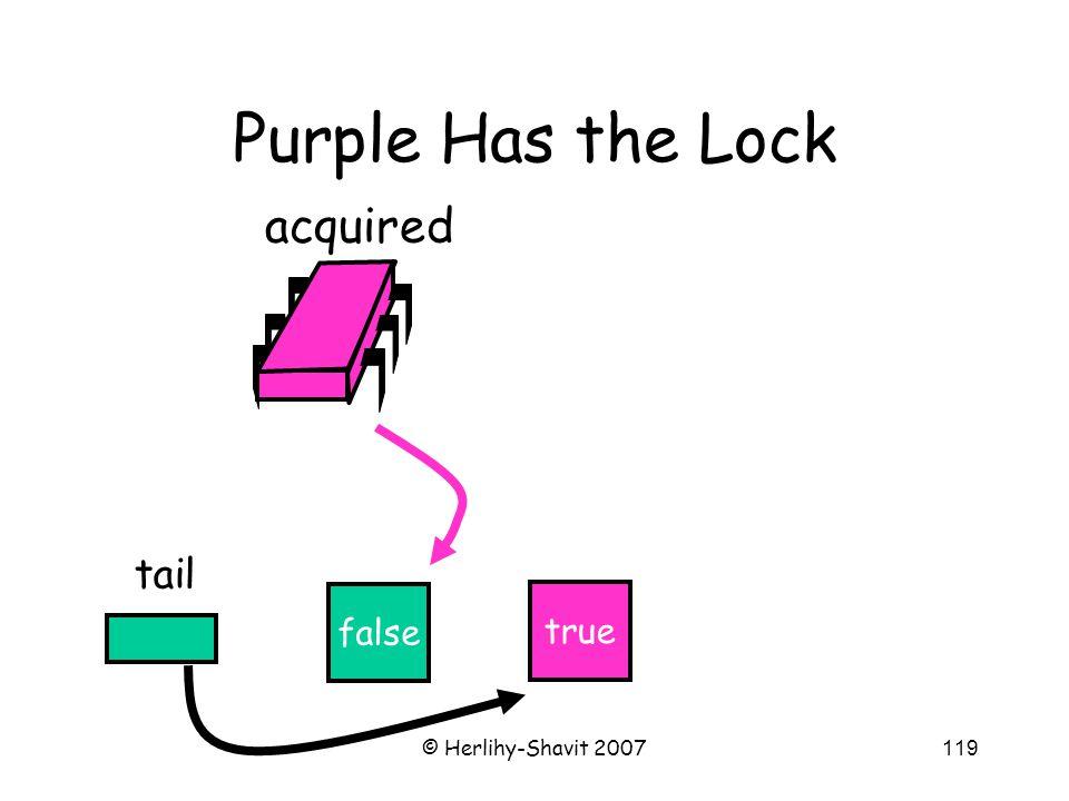 © Herlihy-Shavit 2007119 Purple Has the Lock false tail acquired true