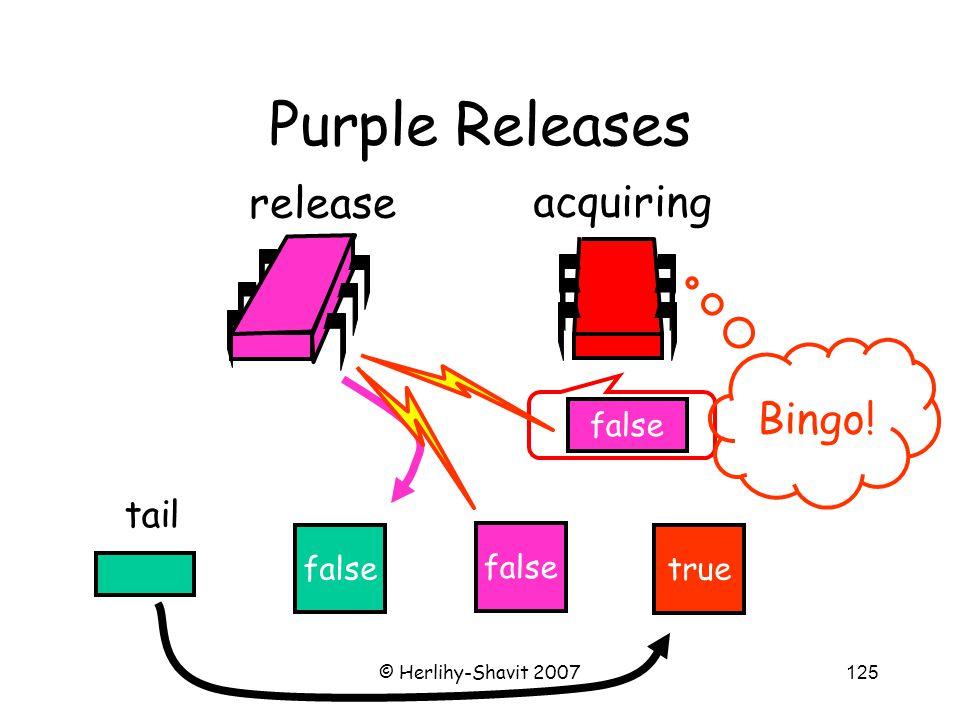 © Herlihy-Shavit 2007125 Purple Releases false tail release acquiring false true false Bingo!