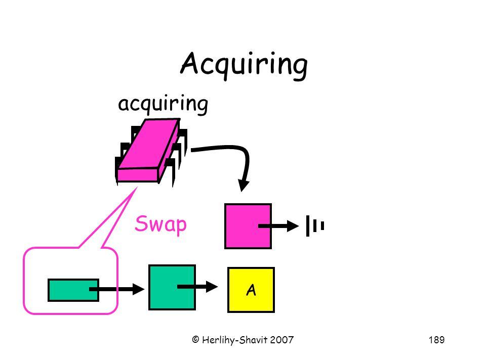 © Herlihy-Shavit 2007189 Acquiring acquiring A Swap