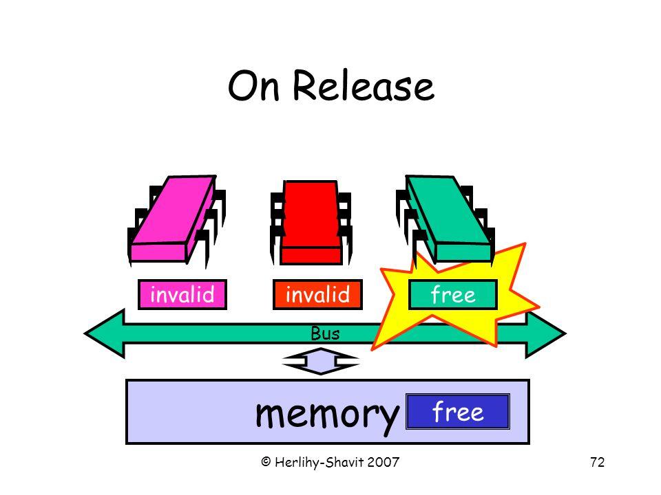 © Herlihy-Shavit 200772 Bus On Release memory freeinvalid free
