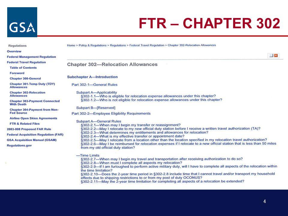 4 FTR – CHAPTER 302
