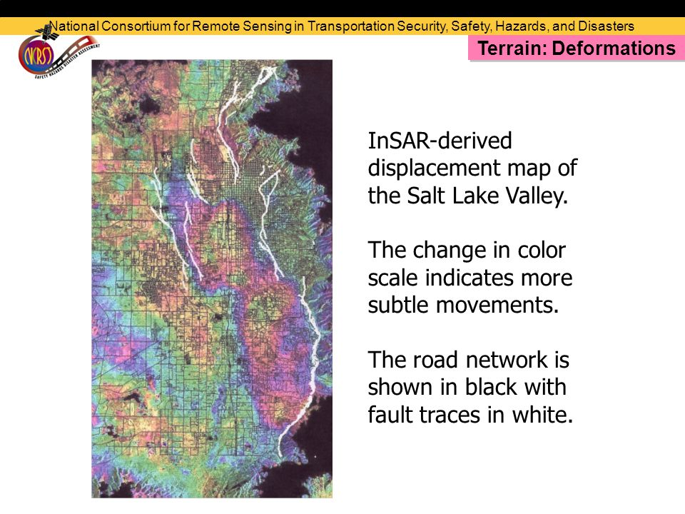 InSAR-derived displacement map of the Salt Lake Valley.