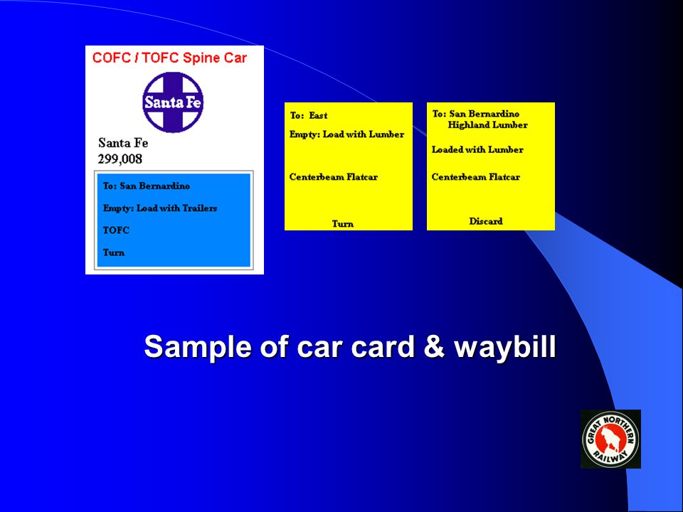 third format A third format that has become very popular is to have the car card contain a pocket (no paperclips!) which contains a card marked with d