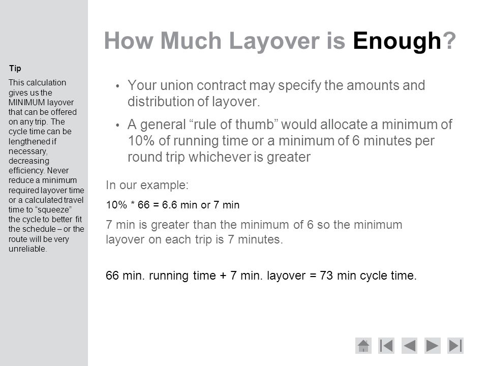 How Much Layover is Enough.