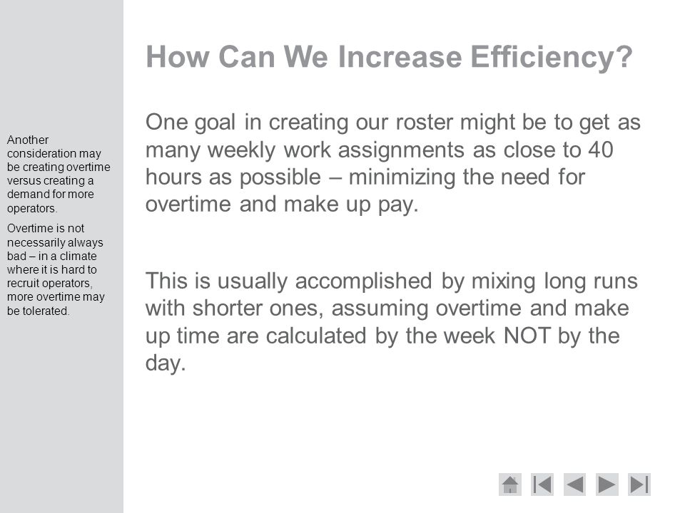 How Can We Increase Efficiency.