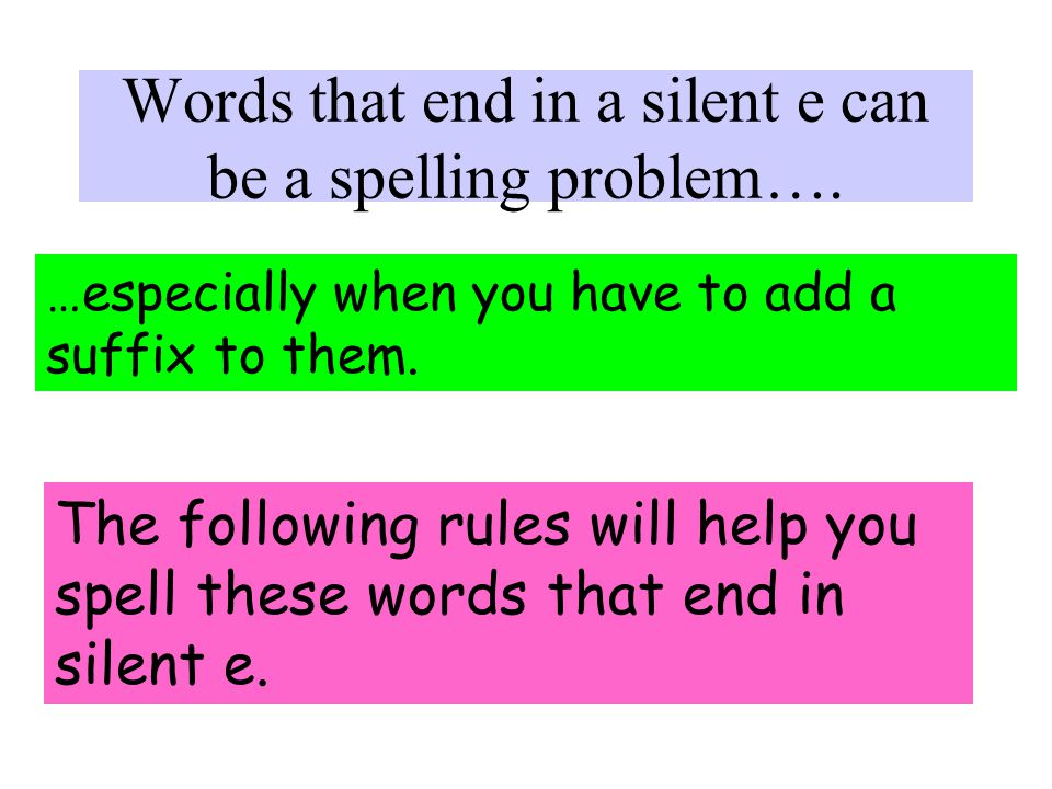 Spelling Rules 1 As a writer, you want to make sure your readers know exactly what you mean.