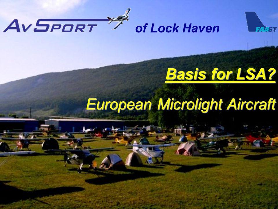 Basis for LSA European Microlight Aircraft