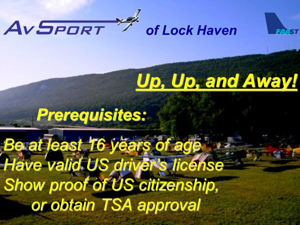 of Lock Haven Up, Up, and Away.
