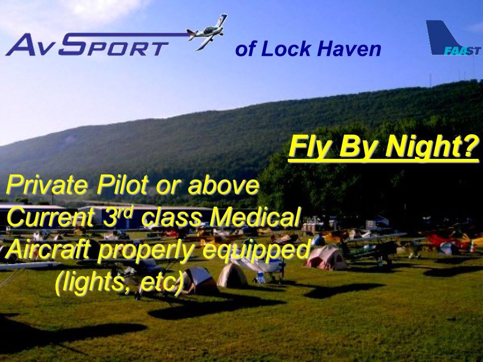 of Lock Haven Fly By Night.