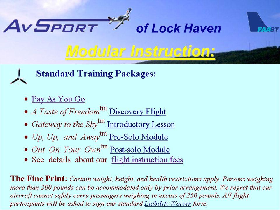 of Lock Haven Modular Instruction: